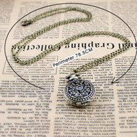 Wholesale New arrival hollow out flower small size pocket watch necklace