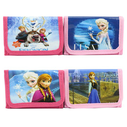 Wholesale Baby frozen Purse Girls Frozen cartoon coin purse wallets bag holder pouch for Kids Gift Frozen Elsa Anna cartoon wallet Melee LK4037