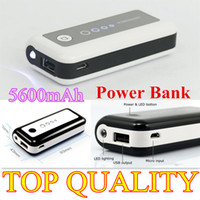 Power Bank   5600mAh smart Portable Backup Battery External Power Bank Charger For Universal Mobile Phone,PSP, camera,Mp3 4 playe ETC 5600 mah