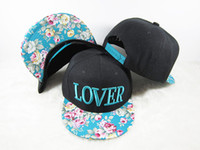 Snapbacks Unisex Printed Fashion Hot Lover letter baseball cap Floral Hip Pop Snapback Cap Hat for autumn -summer wholesale price free shipping
