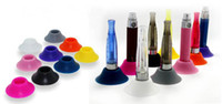 Wholesale silicon e cigarette holder Colorful ego stand ego holder Dock Base tray Silicone Sucker ego atomizer stand for electronic cigarette battery
