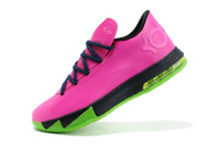Mid Cut Men Mesh 2014 NEW KD VI 6 N7 Assassin Mens basketball shoes Kevin Durant 6 Athletic Discount Brand Shoes Rose Peach for sale