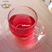 Wholesale Set Tea Set fl oz ml Heat Resisting Clear Glass Tea Cups Mugs with Handle Saucer