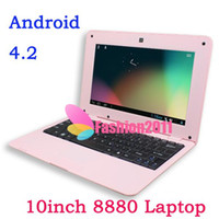 Wholesale VIA VM888 Inch Netbook Notebook Dual core Android HDMI Google Front Camera GB GB Bluetooth Option MINI Laptop DHL Free