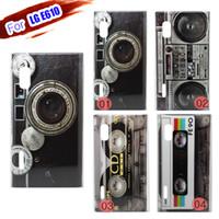 Wholesale Retro Cassette Player Tape Camera Hard Cover Skin for LG Optimus L5 E610 Case E612 Phone Cases Back Shell