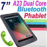 Under $100 7 inch Dual Core 7 inch 2G GSM Phablet 86V Android 4.2 Bluetooth Allwinner A23 Dual Core Phone Call Tablet PC Wifi 4GB 512M RAM Single Sim MID