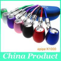 Black   Newest E-Cigarette Epipe Vap Kamry K1000 Upgrade PIPE Mod K1000 Atomizer 3.0ML 18350 900mah Recharger Battery Secondary Oxidation 002308