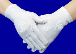 Wholesale Best selling discount cotton bride wedding gloves police etiquette conductor gloves