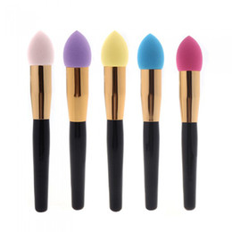 Wholesale High quality Sponge Makeup Brush Liquid Cream Foundation Cosmetic Tool Colors color piece Dropshipping