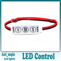 Wholesale 100pcs v ultra slim mini portable single color led strip tape controller dimmer for smd led strip DHL