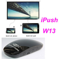 Wholesale NEW iPush TV WiFi Dongle iPush W13 For Support Android iOS withThe Screen Mirroring Iphone Does Not Need Software On Mircast and Airplay