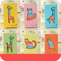 Notes color cover notebook - Lovely Animal Cover Portable Diary Book Color Rainbow MINI Notebook Office Stationery SH621