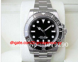 Wholesale Hot Sale Lowest Price Top quality Luxury Ceramic No Date Black Dial Stainless Steel Automatic Mens Men s Watch Watches