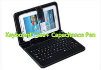 Wholesale HOT Capacitance Pen Google Tablet inch Tablet Micro USB Keyboard Leather PU inch Tablet Case Mini USB Keyboard PC