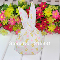 bearing packing material - Candy bags PE material gift packing bags Pink flower and Cute bear printing