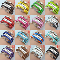 Wholesale 2014 Jewelry new fashion Vintage infinity Bracelets love one direction double heart bracelet Bangle colors for you choose
