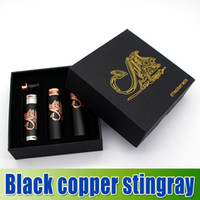 Wholesale Black Stingray rainbow yelloMod Copper Black Clone by Infinite Mechanical Mod Rebuildable e cig Trident V2 Dripping Atomizer Airflow Control