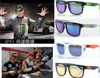 Resin Lenses Sports Pilot Wholesale - 2014 Design 21 COLORS DHL Free Shipping SPY OPTIC + KEN BLOCK HELM Cycling Sports Sunglasses Outdoor men Sun Glasses