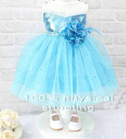 Wholesale 9 off hot sale Summer new Fashion High grade FROZEN ELSA ANN fantasy flower girls tutu ballet dress DROP SHIPPING in stock KP