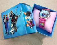 Wholesale New Arrival Childrens Watch Frozen Princess Elsa Anna Cartoon Wristwatch Big Adventure Of Ice And Snow Electronic Watch Mixed Color G0577