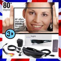 Wholesale 80inch VR Box Headset Virtual Video Glasses D Display Cinema Eyewear with AV input for DVD TV PS4 Smart Phones