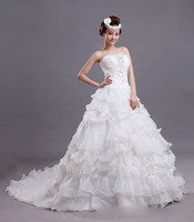 2014 Hot Sale! Princess Bride Wedding Dress Strapless Ball G...