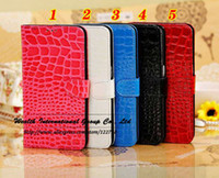 For Samsung Leather Yes Crocodile Pattern Card Holder Leather Wallet Flip Cover Case for Samsung Galaxy Mega 6.3 I9200