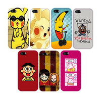 Cheap Exclusive Cute Cartoon Banana Man Plastic Case for iPhone 4 4S 5 5S