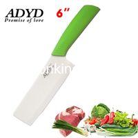 Wholesale SKU196 ADYD quot Ceramic kitchen knife Eco friendly health Zirconia kitchen Fruits Ceramic Knives for Modern Kitchen green