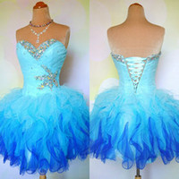 bachelorette party dresses - 2014 Cheap Ombre Multi Color Colorful Short Corset and Tulle Ball Gown Prom Homecoming Dance Party Dresses Mini Bridal Bachelorette Gowns