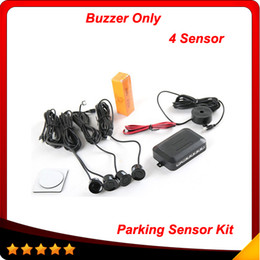 Wholesale 4 Sensors Buzzer mm Car Parking Sensor Kit Reverse Backup Radar Sound Alert Indicator Probe System V In stock