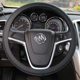 Wholesale XuJi Universal Ultra thin Black Genuine Leather Steering Wheel Cover