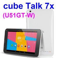 "4.8 inch Quad Core Android 4.2 Cube Talk 7x Cube U51GT C4 7"" IPS MTK8382 Quad Core Android 4.2 1GB RAM 8GB ROM Bluetooth GPS dual sim card 3G Tablet PC"