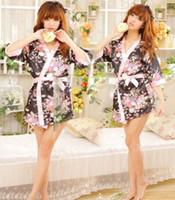 Wholesale Details about Sexy Womens Lingerie Sleepwear Robe Japanese Kimono Costume Uniform Underwear