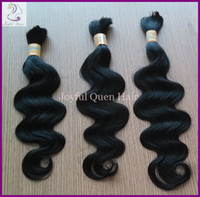Brazilian Hair bulk hair - Brazilian Bulk hair extensions real human hair products color B body wave braids hair bundles for braiding nice hair
