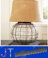 american din - Nordic American country style iron art table lamp for bedroom dinning room living room hotel MYY1375