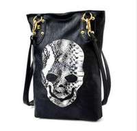Shoulder Bags Women Artwork New Style Fashion Punk Black Skull Face Designer Handbag Women's Shoulder Bag,Lady Cross Body Bag