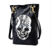 Cheap New Style Fashion Punk Black Skull Face Designer Handbag Women's Shoulder Bag,Lady Cross Body Bag