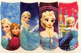 Wholesale Hot New Baby Cotton Girls Boys Frozen Anna Elsa Socks Fashion Kids Cartoon Sock Children Socks Years