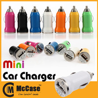 Car Chargers Universal  Multicolor Mini Universal Car Charger Bullet Adapter For iPhone 4 5 5S iPad HTC M8 Samsung S4 S5 NOTE 3 MP3 MP4 PDA 100PCS