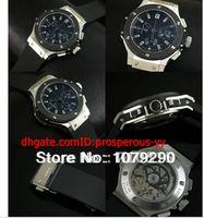 Sport Men's Auto Date Hot Sale 2014 Top quality Luxury Eta 7750 Big Rubber Black Dial Automatic Chronograph Men's Watch Watches