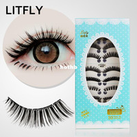 None 10 pairs False Eyelash Wholesale-Lovable Secret - Advanced litfly rita handmade false eyelashes 405 10 thick curling tunoscope mixed free shipping