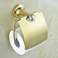 toilet paper - Desire Crystal Brass Toilet Paper Holder Tissue Holder With Cover Bathroom Accessories