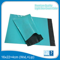 Wholesale Colored LIGHT SEA GREEN Color x26cm quot x10 quot Plastic Poly Mailers Shipping Envelope Bags Self Seal Flat Poly Mailing