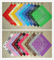 Wholesale 100 cotton cowboy bandanas paisley design bandana seamless scarf for whole sale