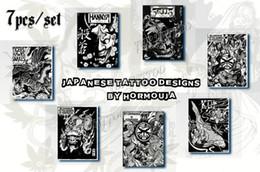 Wholesale Hot Sales A4 Japanese Tattoo Design Color Tattoo Flash Tattoo Manuscript For Tattoo Supply EMS Free