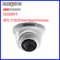 "DIS Outdoor 600TVL HIKVISION DS-2CE5582P-IR Resolution 600TVL 1 3"" DIS ICR Outdoor IR Dome Camera security cctv cameras support IP66"