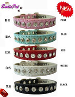 daily-use luxury pet products - Luxury Diamond Rhinestones Personalized Dog Pet Collar Croc PU leather Fashion Dog Pet Collar Pet Supplies Pet Product off for