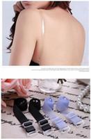 Wholesale 10mm Clear Gel Adjustable elastic silicon Shoulder Belt Bra Strap Clip