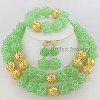Cheap Bracelet,Earrings & Necklace crystal necklace Best African Women's wedding jewelry set